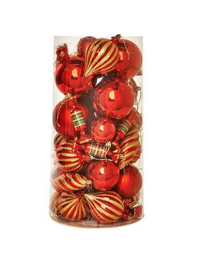 Red Assorted Ornament Set (48)