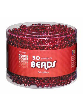 Red Beaded Necklaces Party Pack