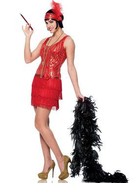 Red Broadway Flapper Women's Costume