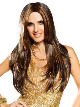Red Carpet Mixed Brown Adult Wig