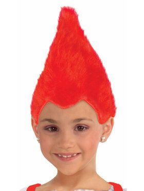 Fuzzy Red Wig For Children