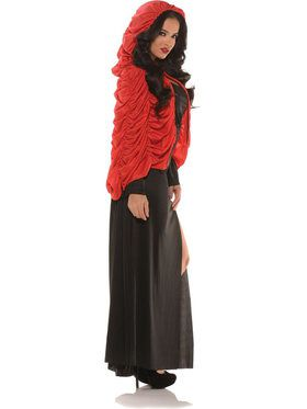 Red Coffin Capelet Women's Costume