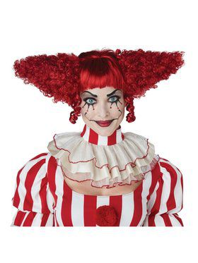 Adult Creepy Red Clown Wig