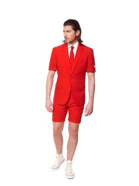Red Devil Mens Summer Opposuit for Halloween