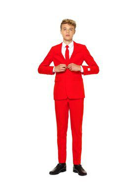 Red Devil Teen Boys Opposuit for Halloween
