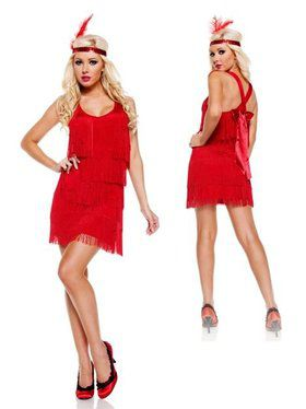 Red Flapper Costume