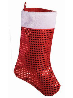 Red Foil Dot Christmas Stocking Decoration