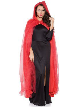 Red Full Ghost Cape Adult Costume