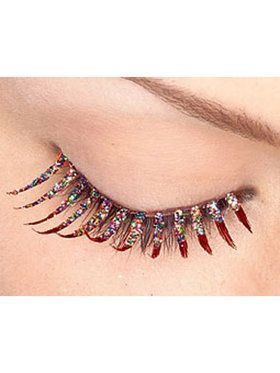 Red Glitter Eyelashes