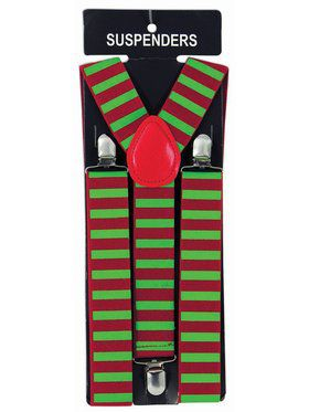 Green and Red Elf Suspenders