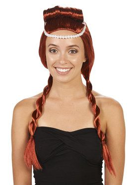 Red Medieval Adult Wig for Halloween