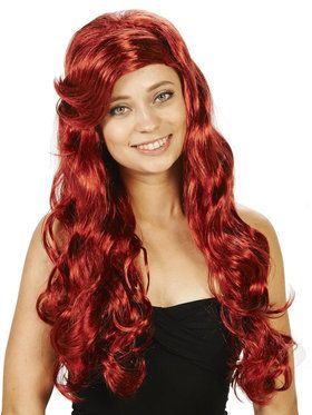 Red Mermaid Wig For Adults
