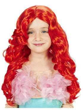 Red Mermaid Child Wig