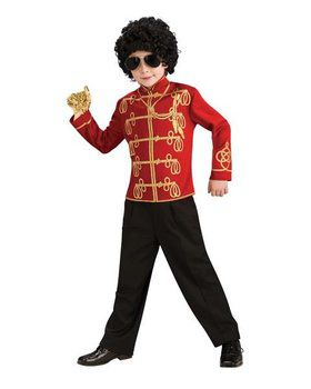 Red Michael Jackson Military Jacket Costume