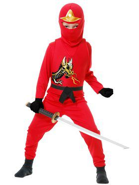 Red Ninja Avengers Series II Boy's Costume