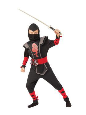 Red Ninja Child Costume for Kids
