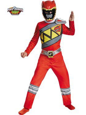 Red Ranger Dino Charge Classic Boy's Costume