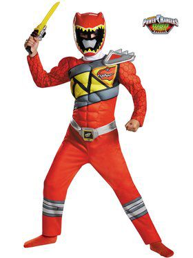 Red Ranger Dino Charge Classic Muscle Boy's Costume