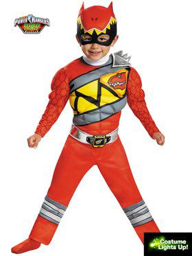 Red Ranger Dino Charge Light Up Motion Activated Boy's Costume