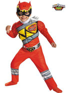 Red Ranger Dino Charge Muscle Chest Costume Toddler