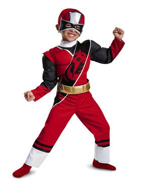 Red Ranger Ninja Steel Toddler Muscle Costume