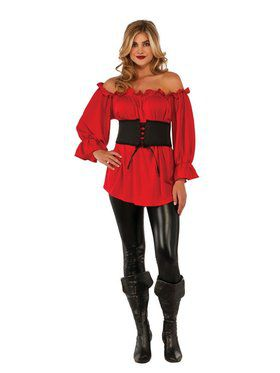 Renaissance Red Blouse Women's Costume