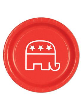Red Republican Plates(8 Pack)