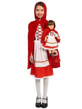 Red Riding Hood Classic Child Costume with Matching Doll Costume