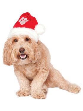 Red Santa Hat Accessory for Pets