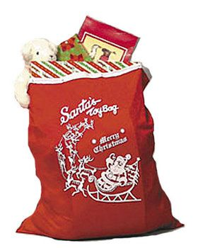 Red Santa Toy Bag