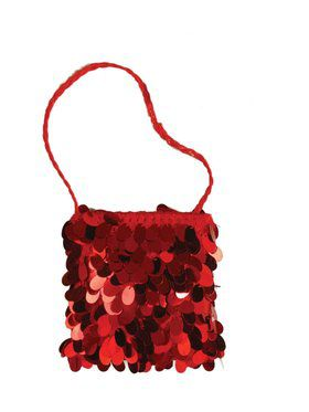 Red Sequin Flapper Bag