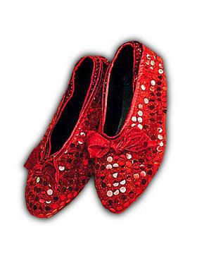 Red Sequin Shoe Covers - Child