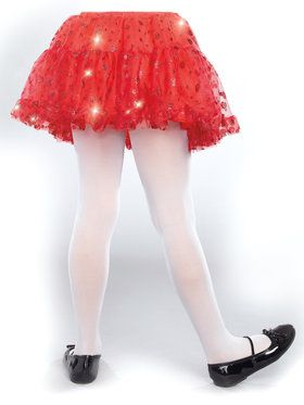 Red Sparkle Child Petticoat