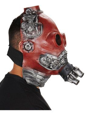 Red Steampunk Adult Mask for Halloween