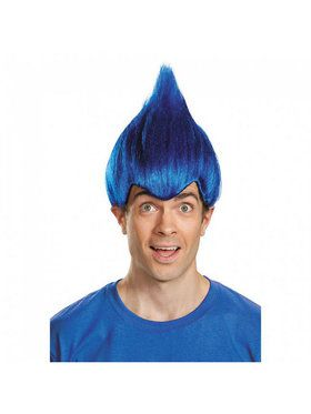 Dark Blue Troll Adult Wig