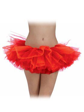 Red Tulle Womens Tutu
