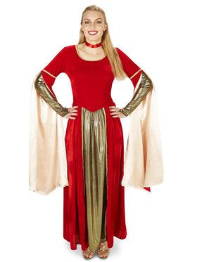 Red Velvet Renaissance Dress Adult Costume