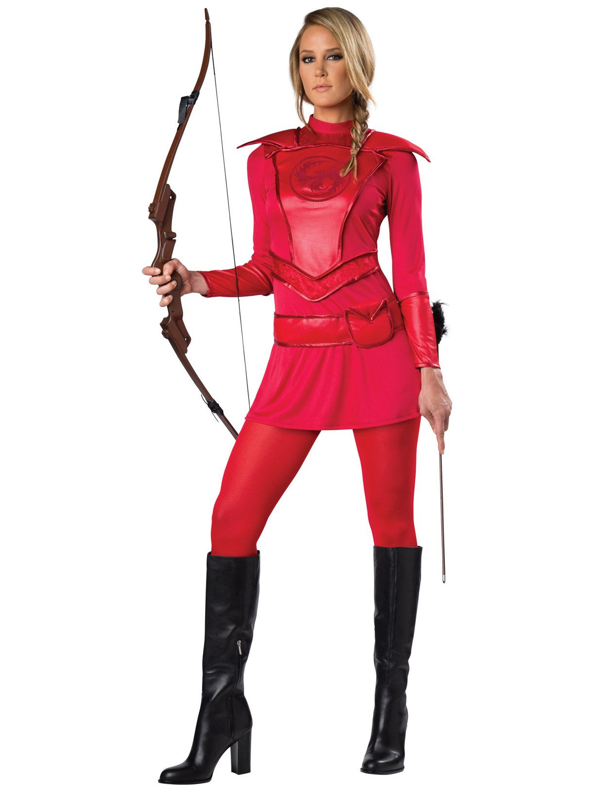 red warrior huntress adult costume - womens costumes for 2018
