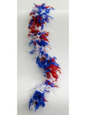 Red White and Blue Feather Boa