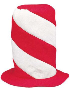 Red & White Striped Top Hat