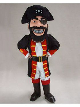 Redbeard Pirate Mascot Adult's Mascot Costume