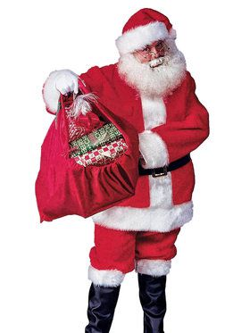 Regal Plush Adult Santa Suit with Wig &