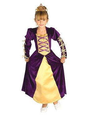 Regal Queen Kids Costume