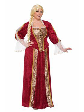 Renaissance Queen Curvy Costume for women