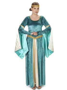 Renaissance Teal Dress Costume For Adults