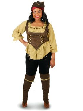 Renegade Pirate Queen Adult Plus Costume for Halloween