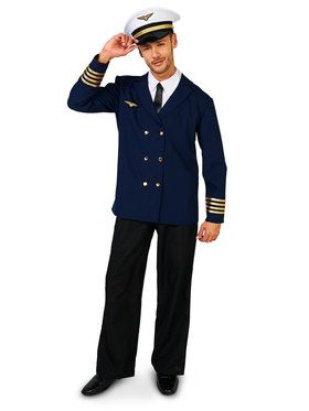 Adult Retro Airline Captain Costume