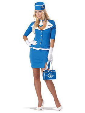 Women's Retro Stewardess Costume