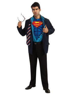 Reversible Clark Kent/Superman Adult Costume