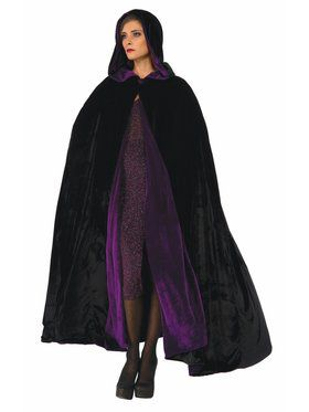 Reversible Cloak Accessory Purple Black